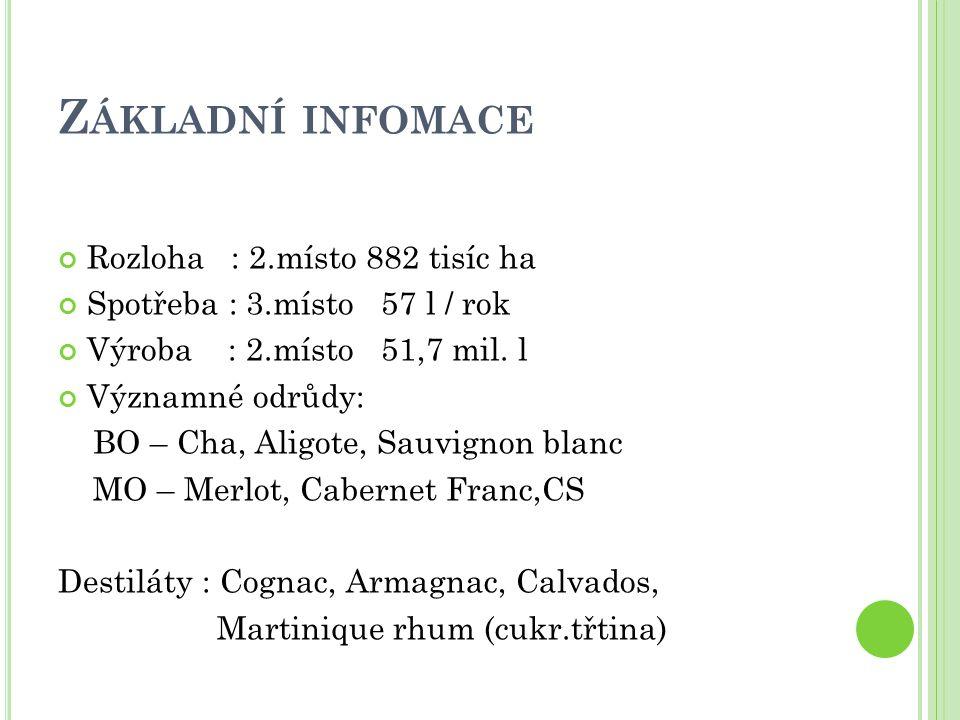 Základní infomace Rozloha : 2.místo 882 tisíc ha