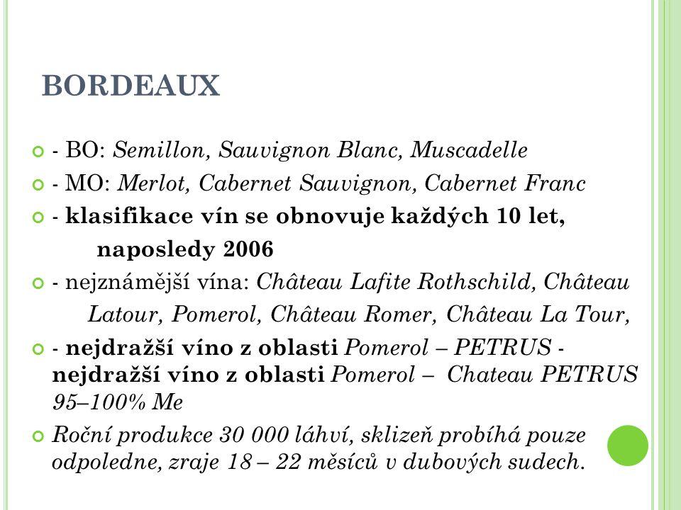 BORDEAUX - BO: Semillon, Sauvignon Blanc, Muscadelle