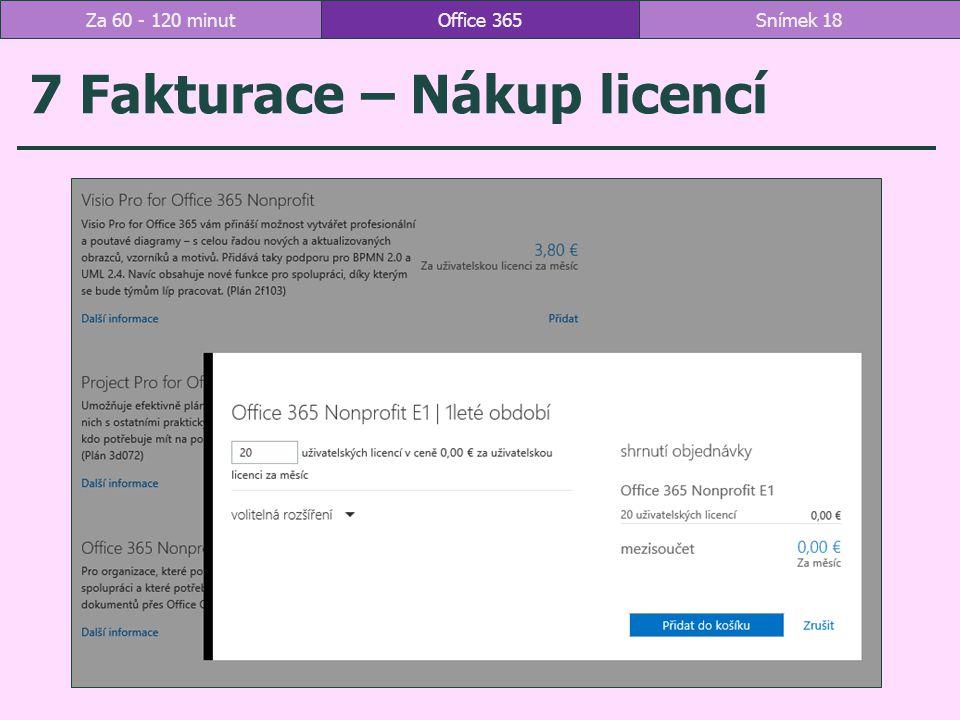 7 Fakturace – Nákup licencí