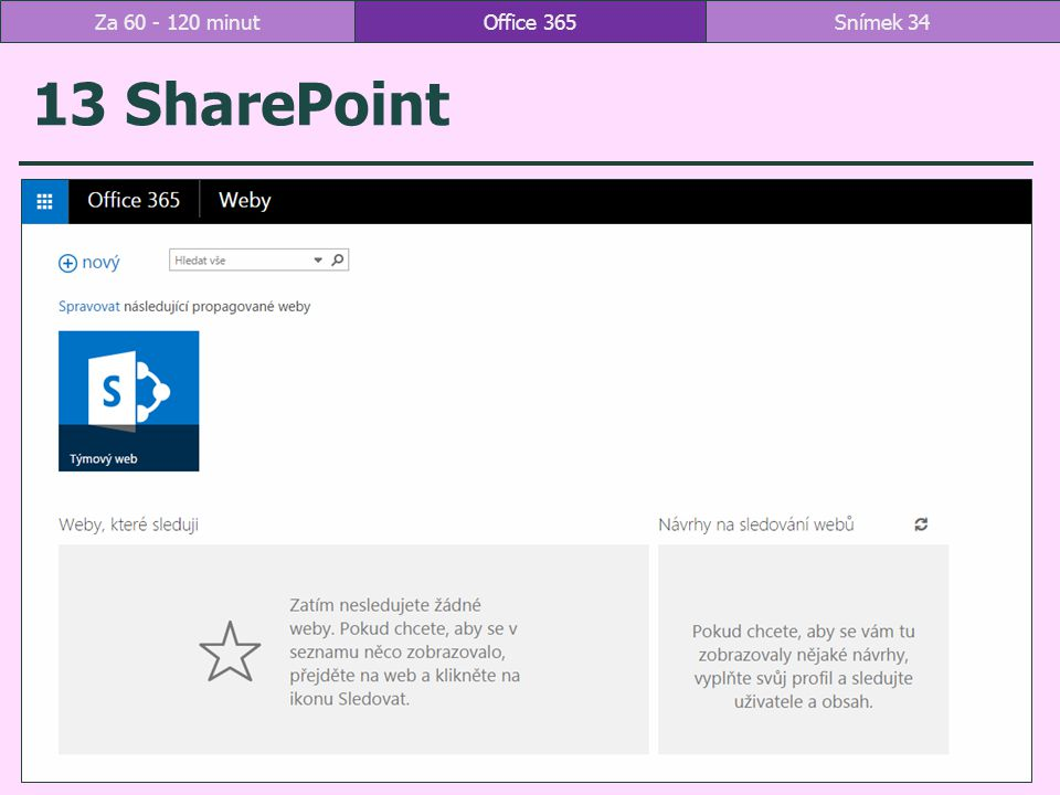 Za 60 - 120 minut Office 365 13 SharePoint