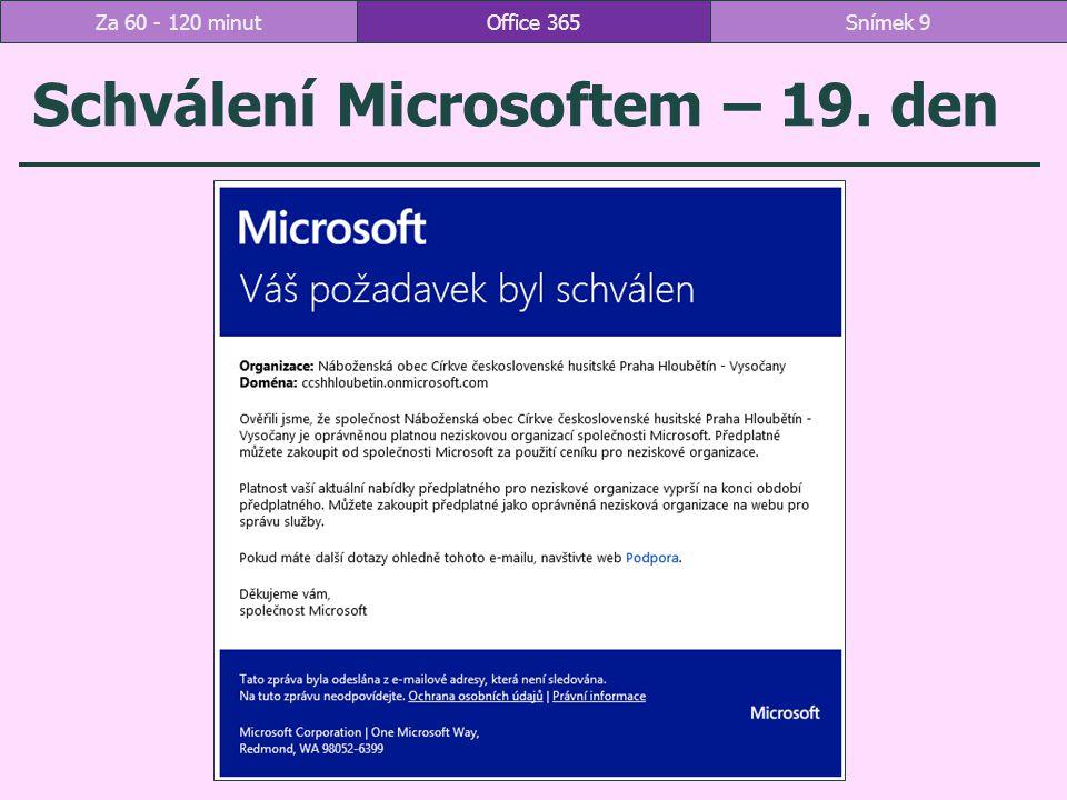 Schválení Microsoftem – 19. den