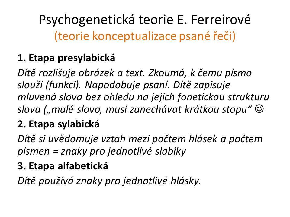 Psychogenetická teorie E