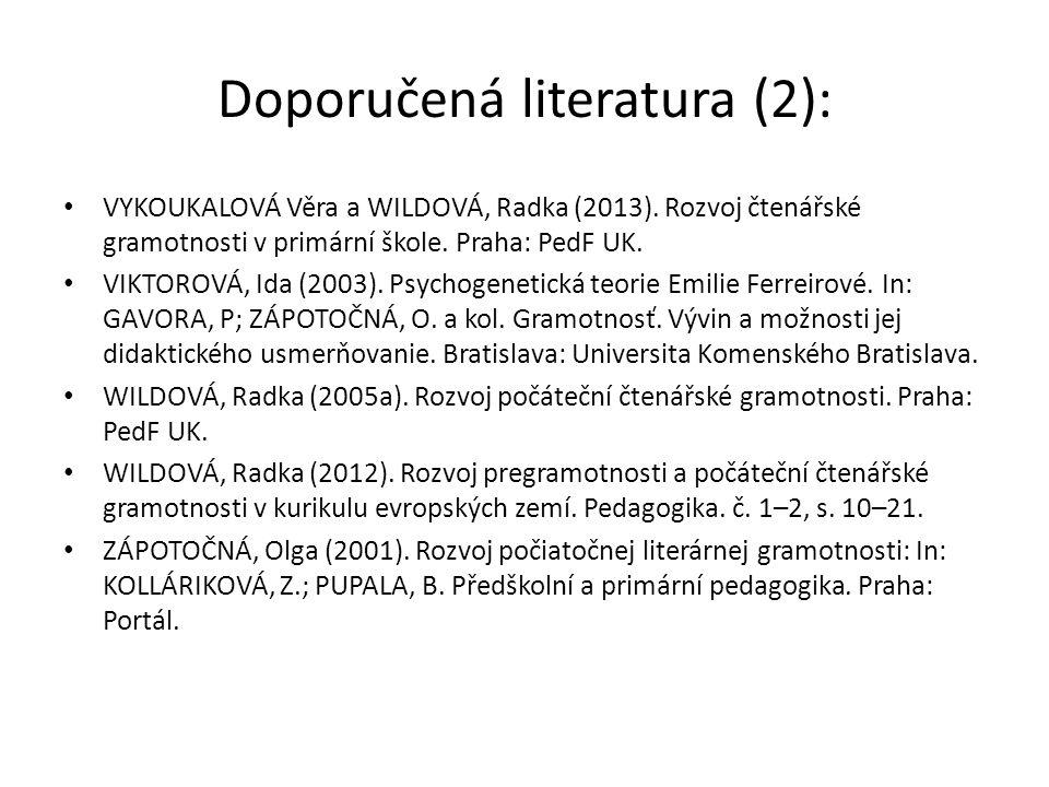 Doporučená literatura (2):