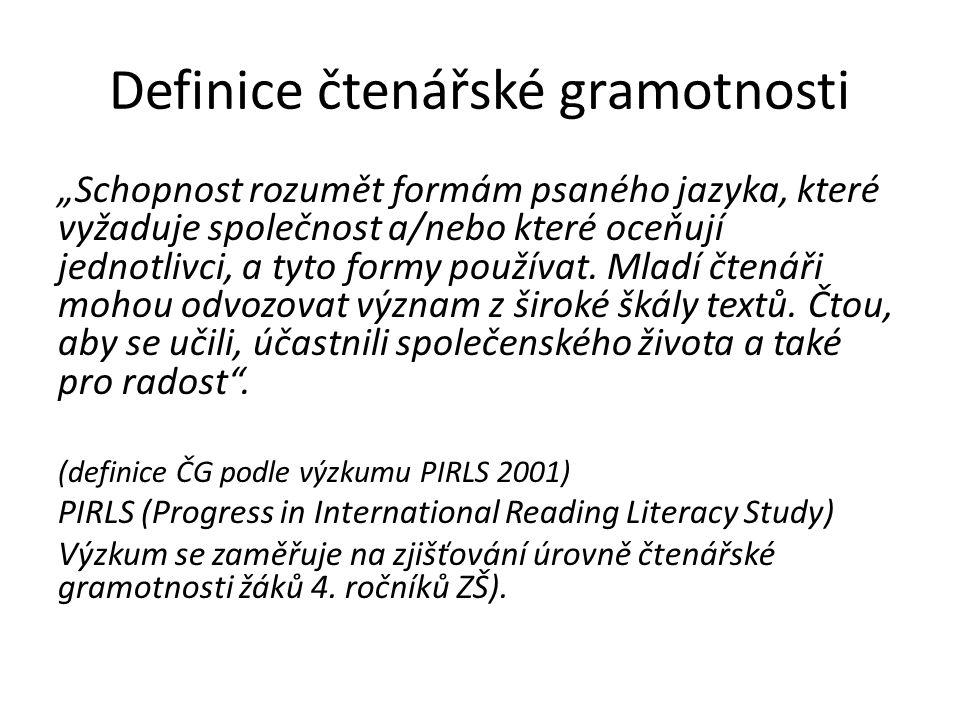 Definice čtenářské gramotnosti