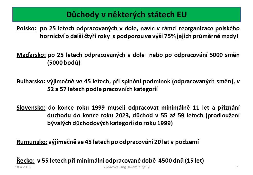 Důchody v některých státech EU