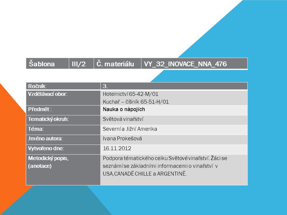 Šablona III/2 Č. materiálu VY_32_INOVACE_NNA_476 Ročník: 3.