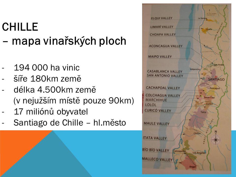 – mapa vinařských ploch