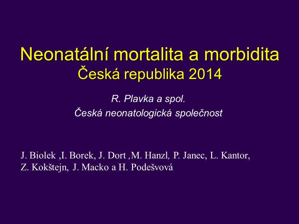 Neonatální mortalita a morbidita Česká republika 2014