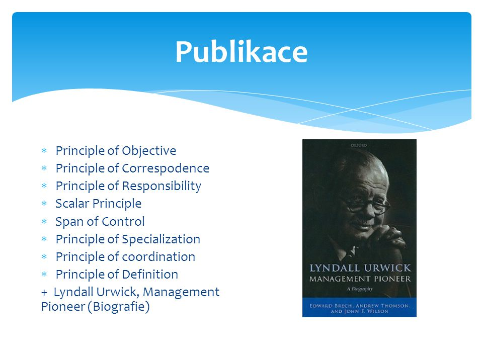 Publikace Principle of Objective Principle of Correspodence
