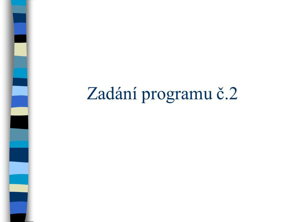 Zadání programu č.2