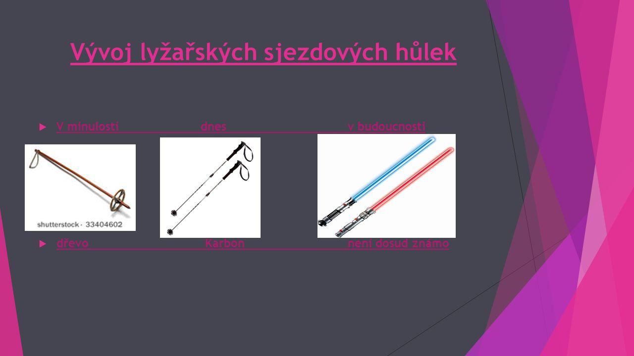 Vývoj lyžařských sjezdových hůlek