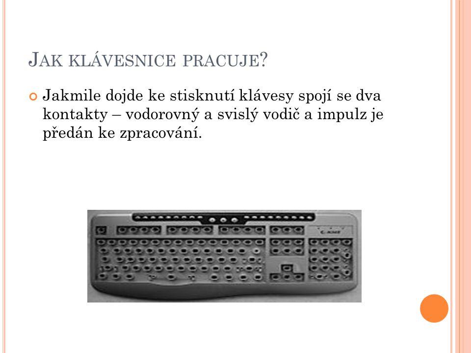 Jak klávesnice pracuje