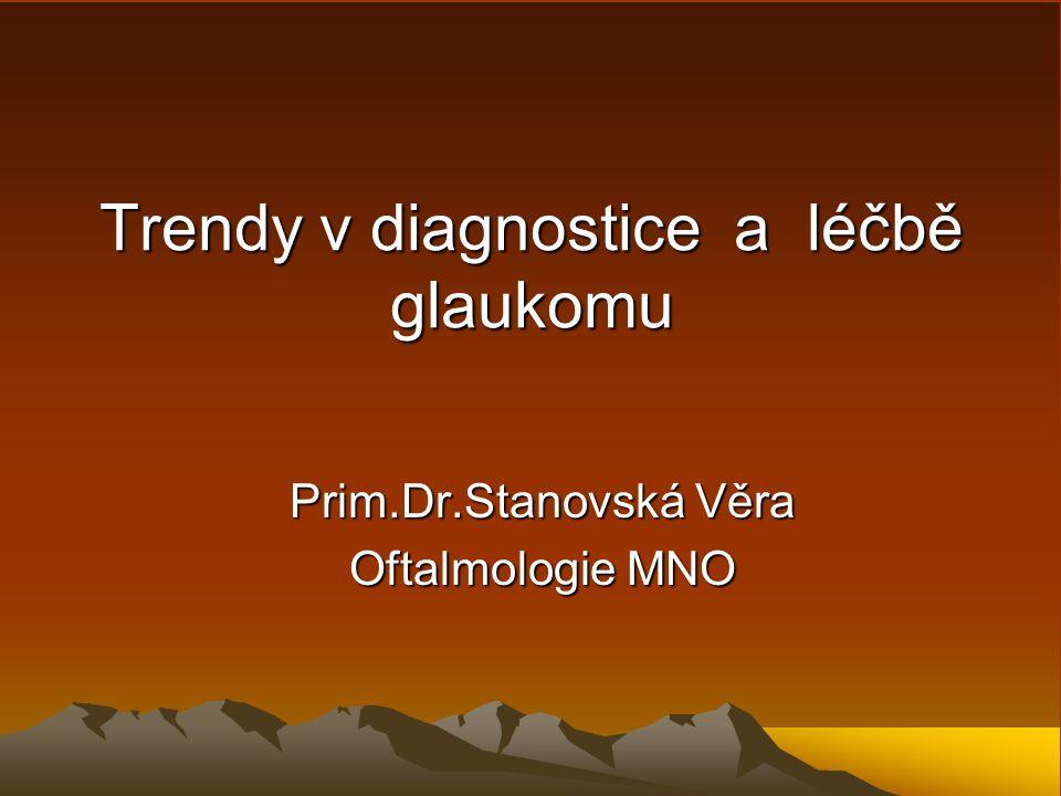 Trendy v diagnostice a léčbě glaukomu