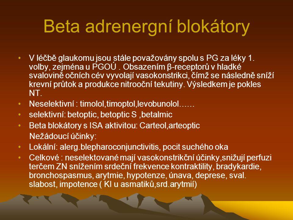 Beta adrenergní blokátory