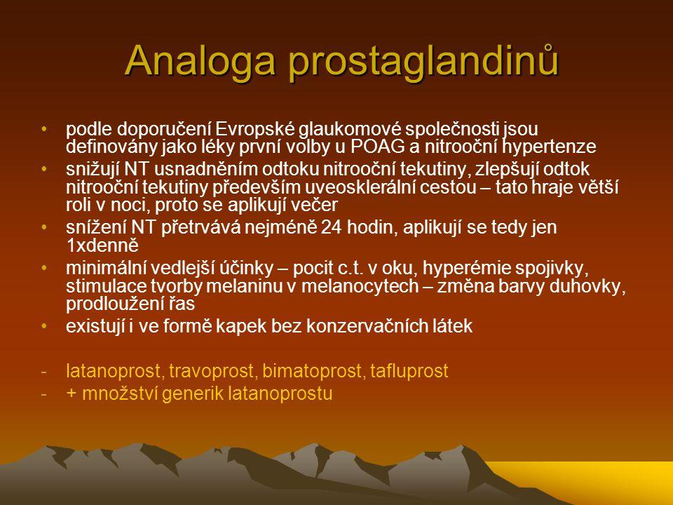 Analoga prostaglandinů