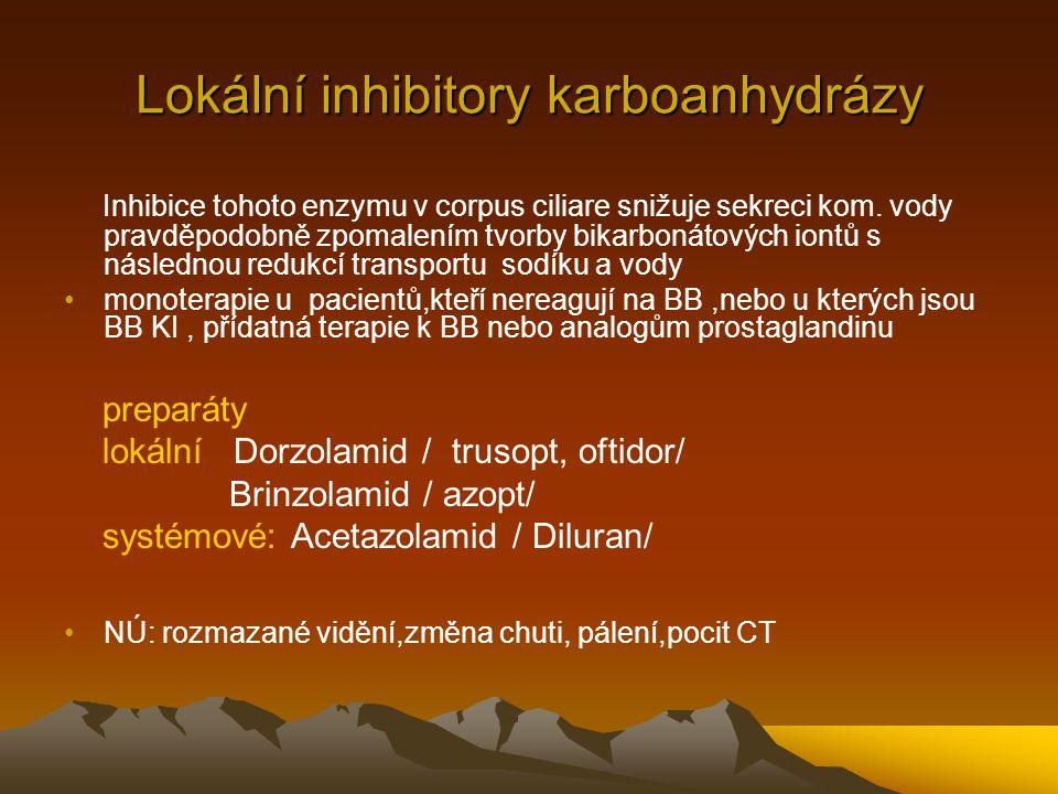 Lokální inhibitory karboanhydrázy