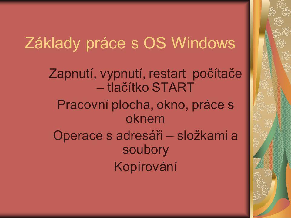 Základy práce s OS Windows