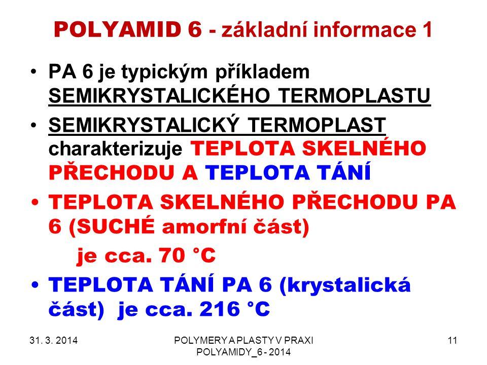 POLYAMID 6 - základní informace 1