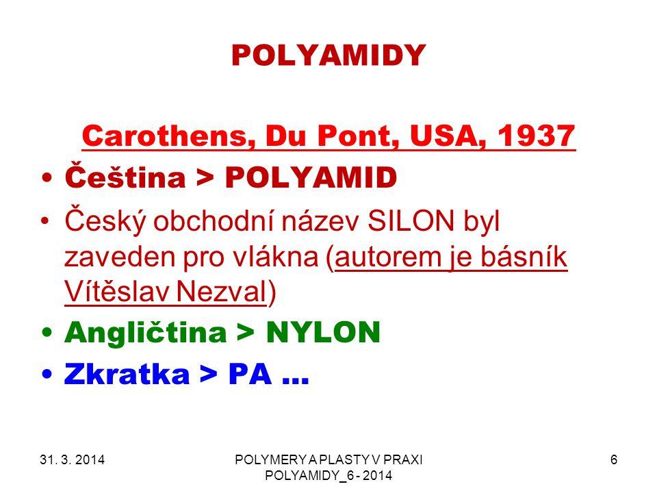 POLYMERY A PLASTY V PRAXI POLYAMIDY_6 - 2014