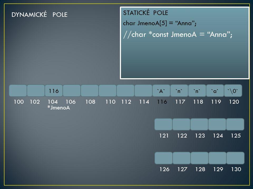 //char *const JmenoA = Anna ;