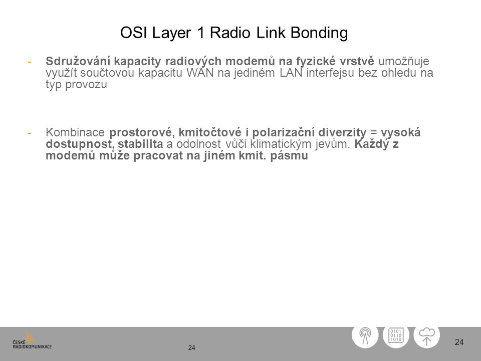 OSI Layer 1 Radio Link Bonding