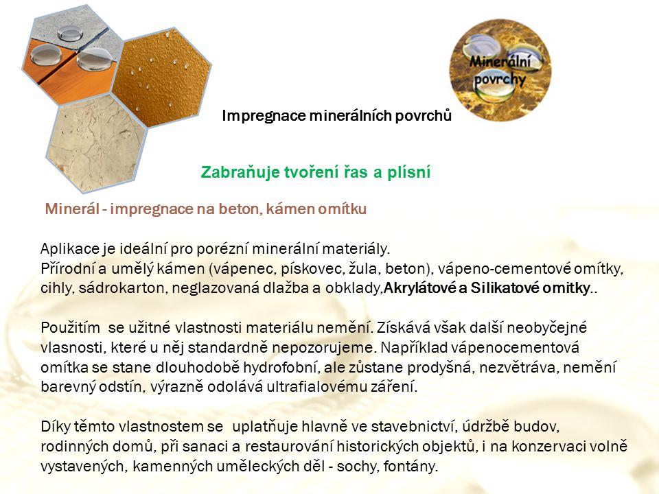 Impregnace minerálních povrchů