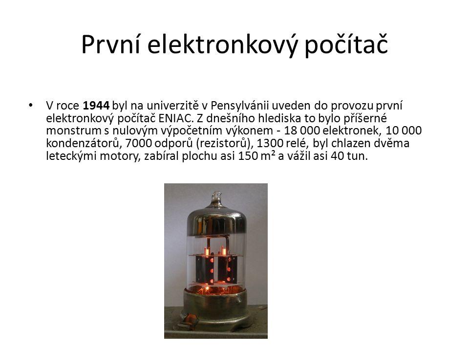 První elektronkový počítač