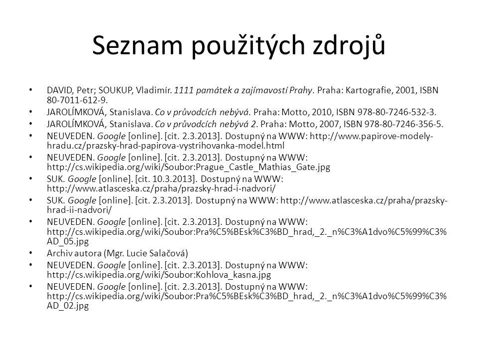 Seznam použitých zdrojů