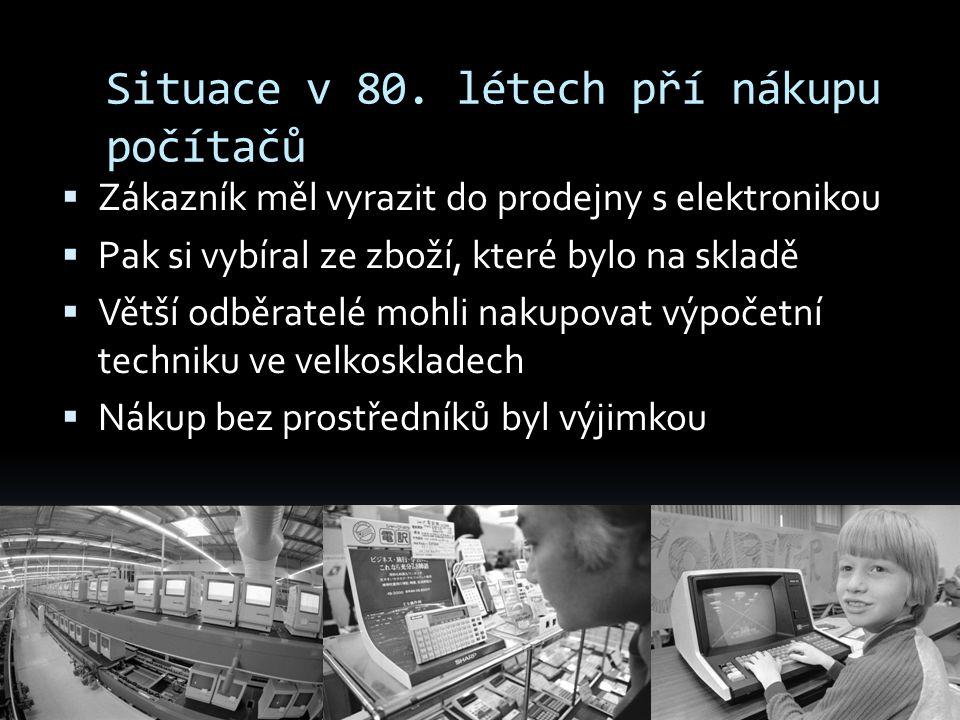Situace v 80. létech pří nákupu počítačů