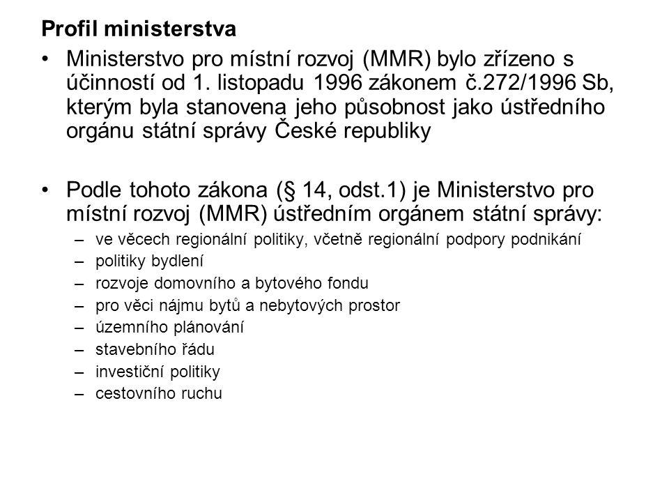 Profil ministerstva