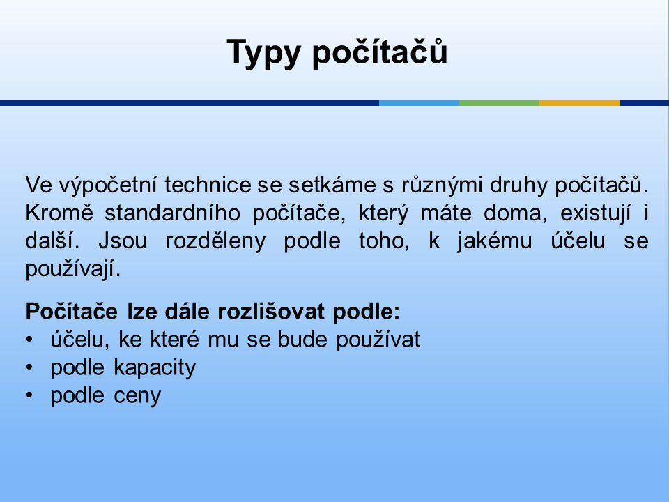 Typy počítačů
