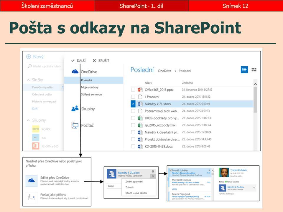 Pošta s odkazy na SharePoint