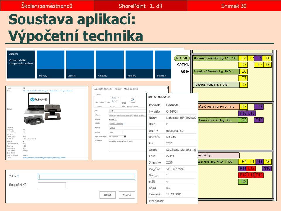 Soustava aplikací: Výpočetní technika