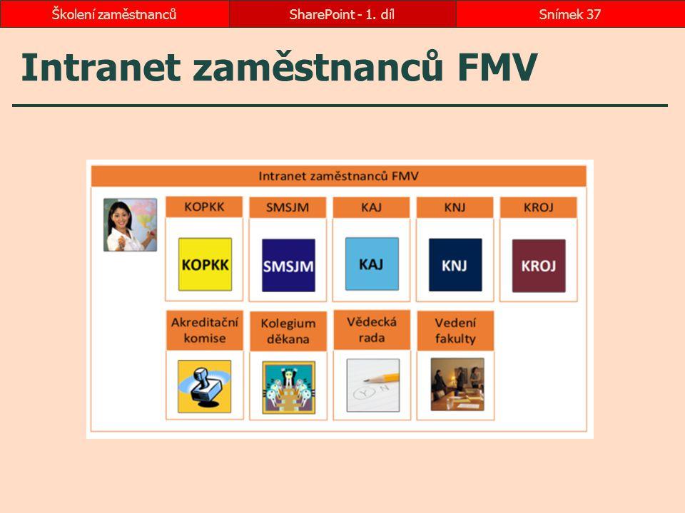 Intranet zaměstnanců FMV