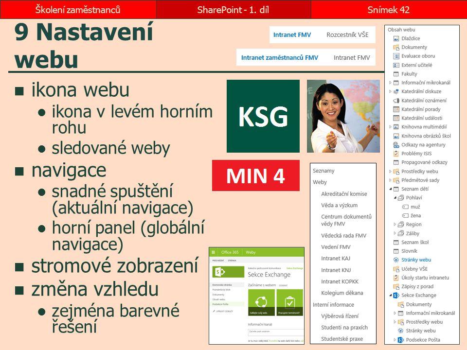 9 Nastavení webu ikona webu navigace stromové zobrazení změna vzhledu