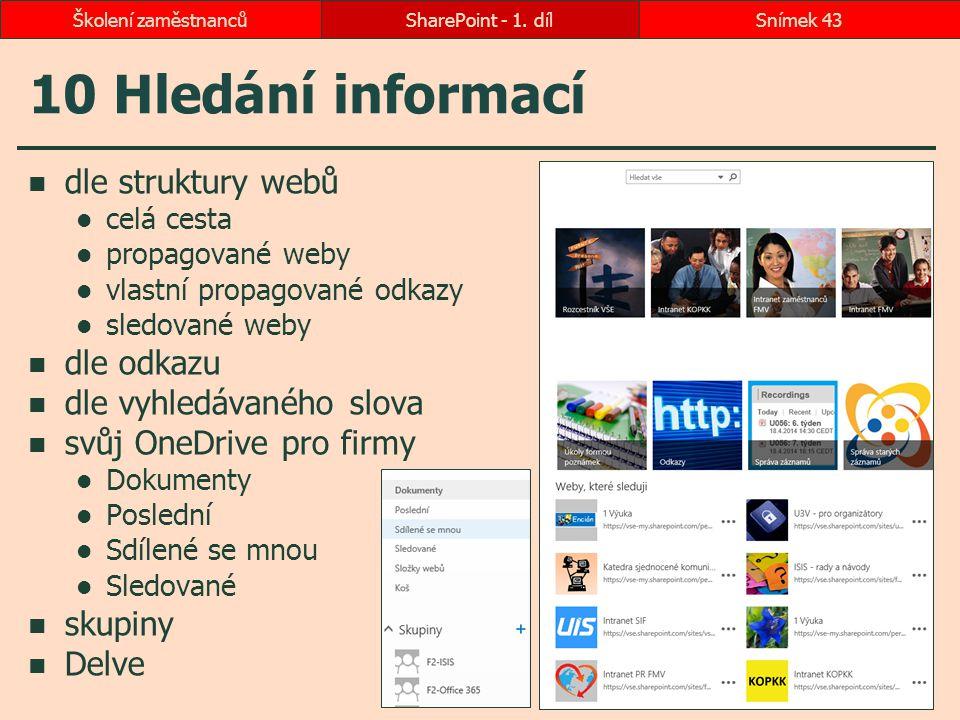 10 Hledání informací dle struktury webů dle odkazu