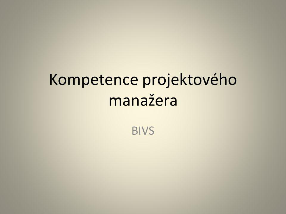 Kompetence projektového manažera