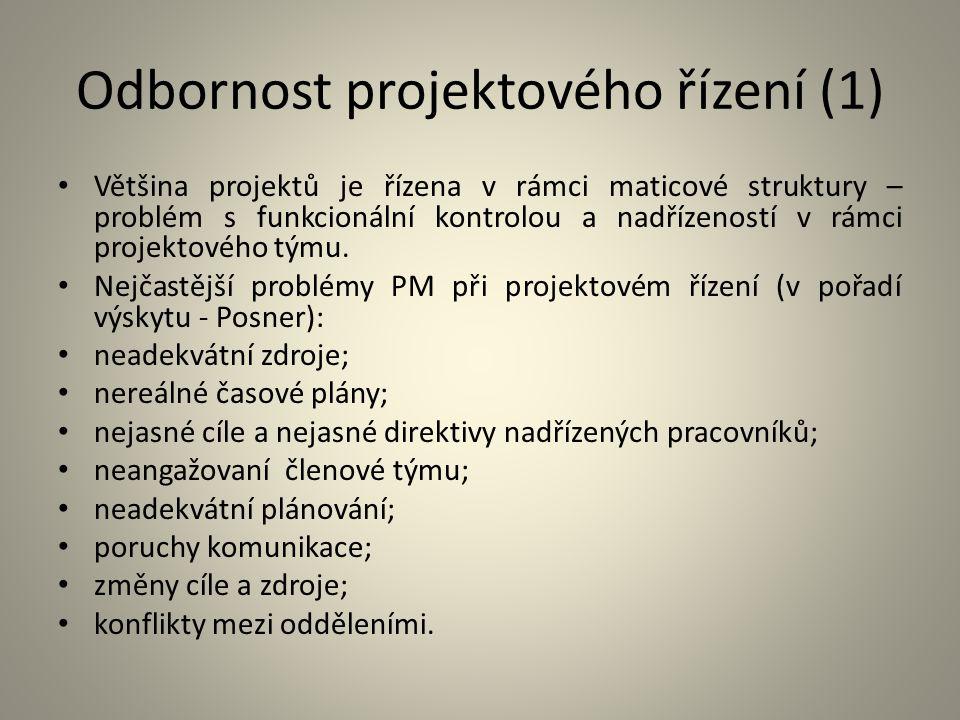 Odbornost projektového řízení (1)
