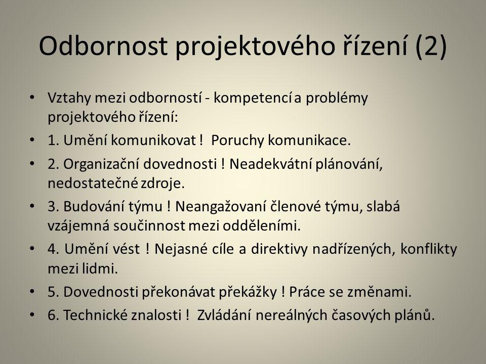Odbornost projektového řízení (2)