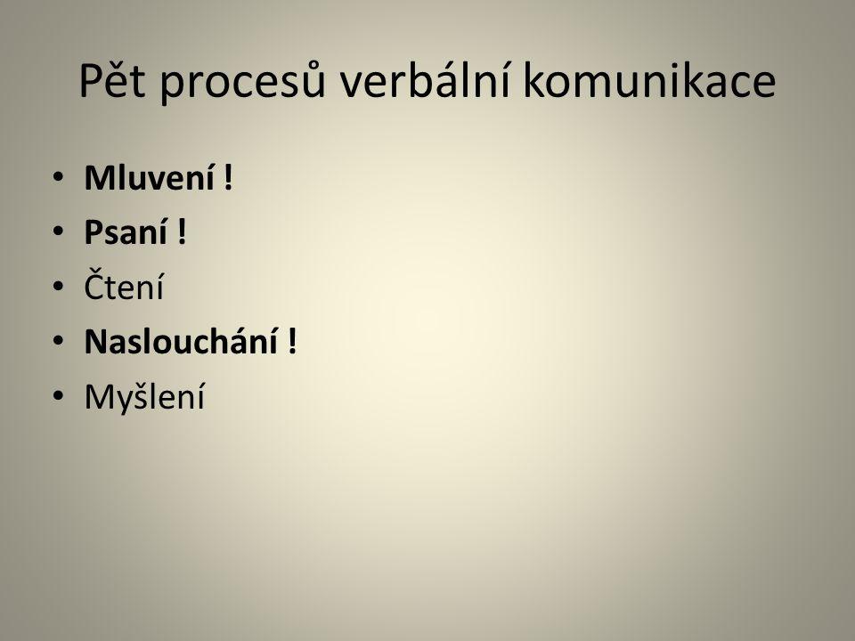 Pět procesů verbální komunikace
