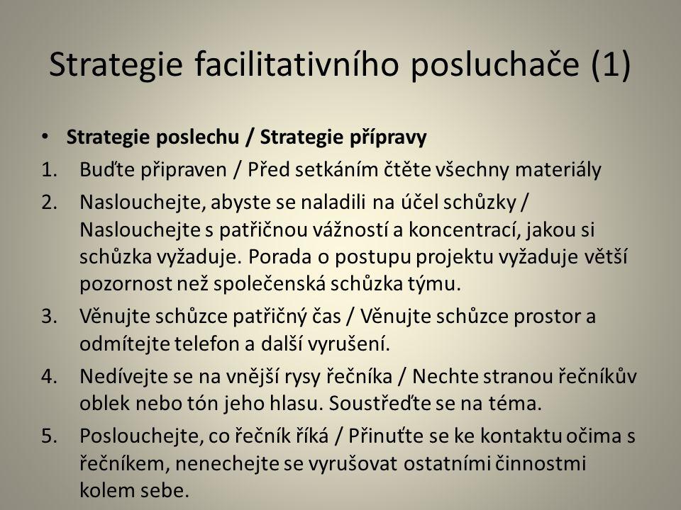 Strategie facilitativního posluchače (1)