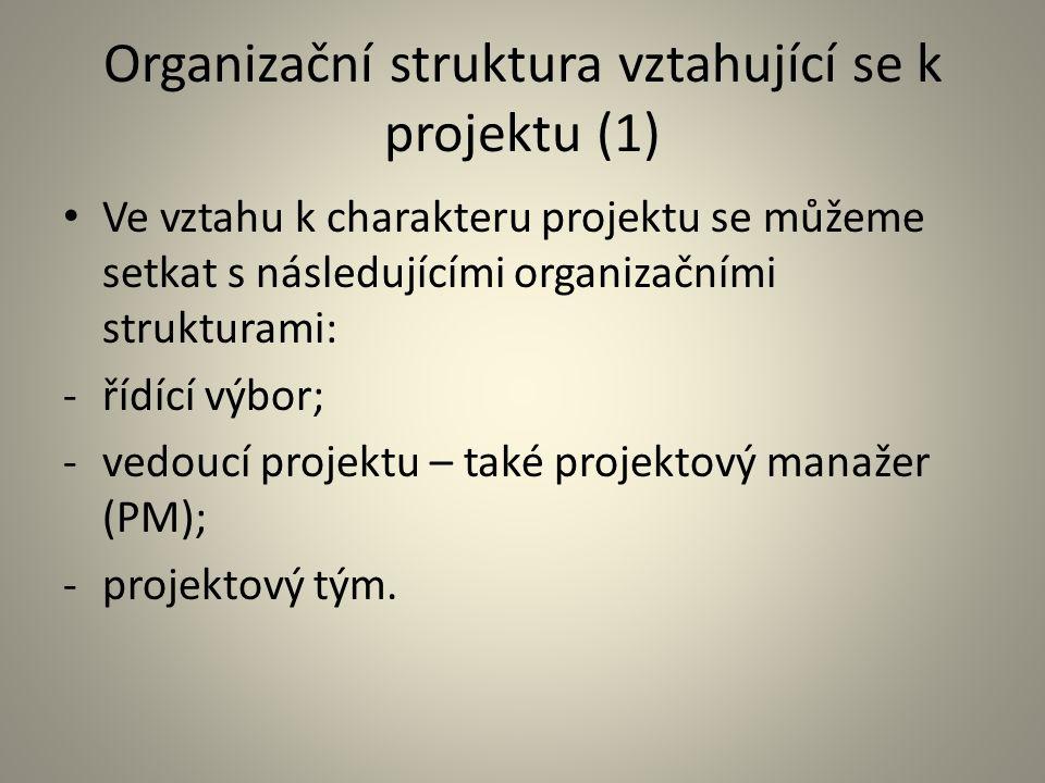 Organizační struktura vztahující se k projektu (1)