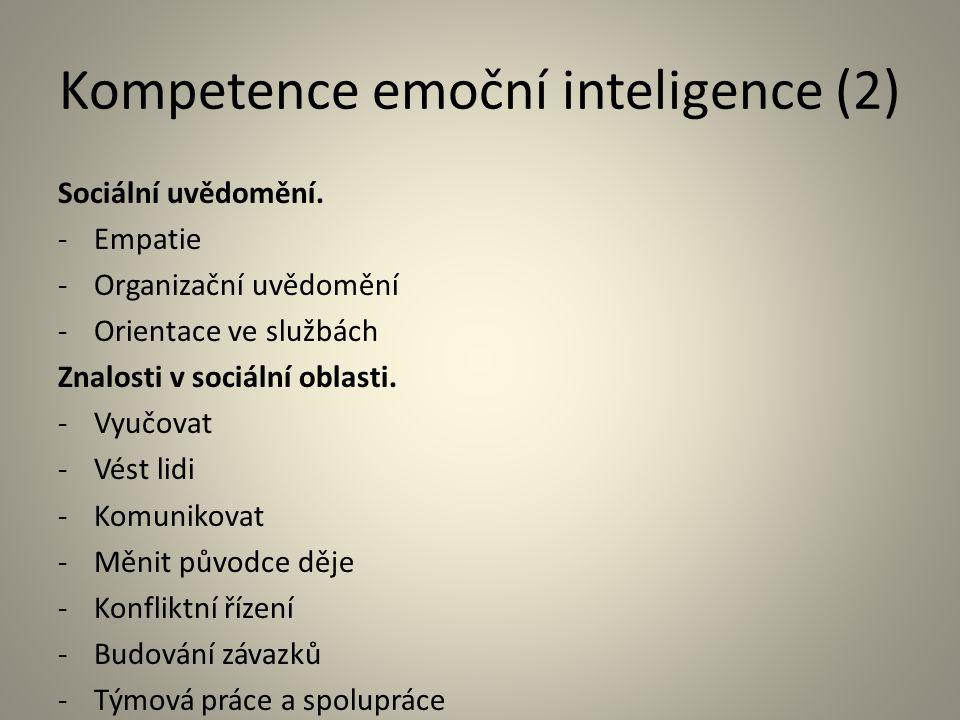 Kompetence emoční inteligence (2)