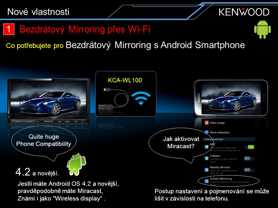 KCA-WL100 a AirPlay * řešení.