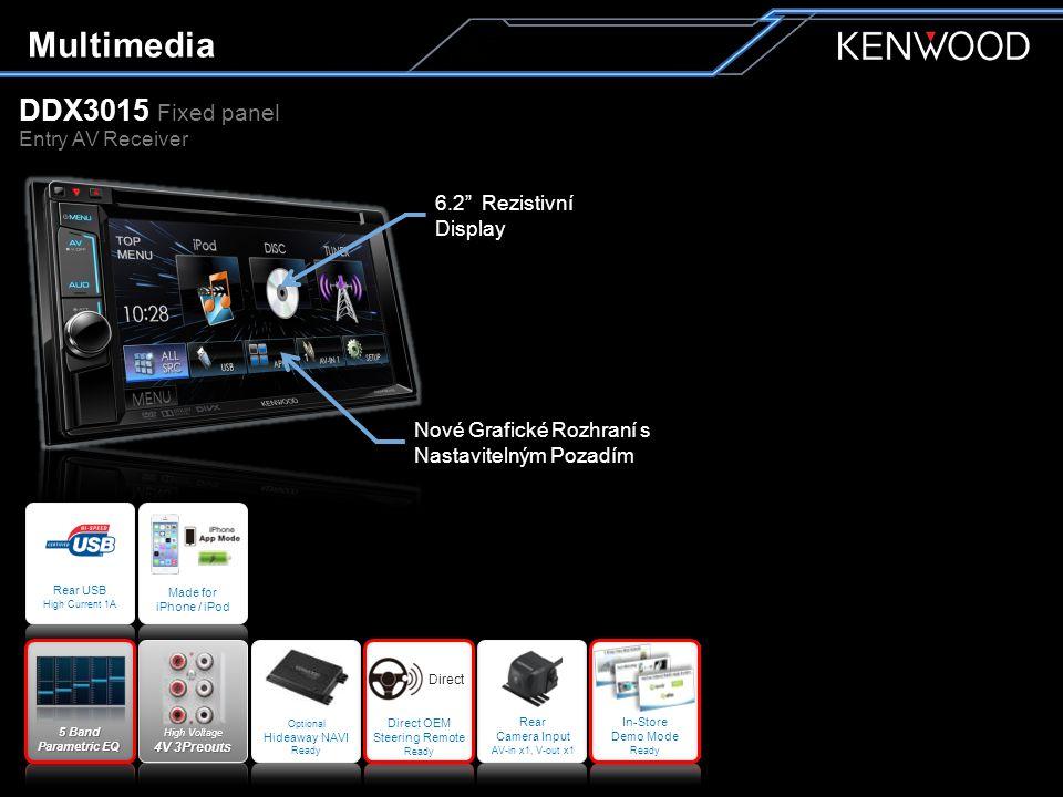 Multimedia DDX4015BT Fixed panel Entry AV Receiver