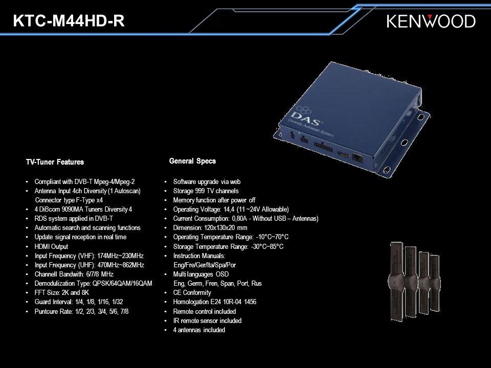 KTC-M44HD-R Základní dotykové ovládání z modelové řady 2014 po připojení dvou kabelů. (AV kabel a Remote Control kabelu)