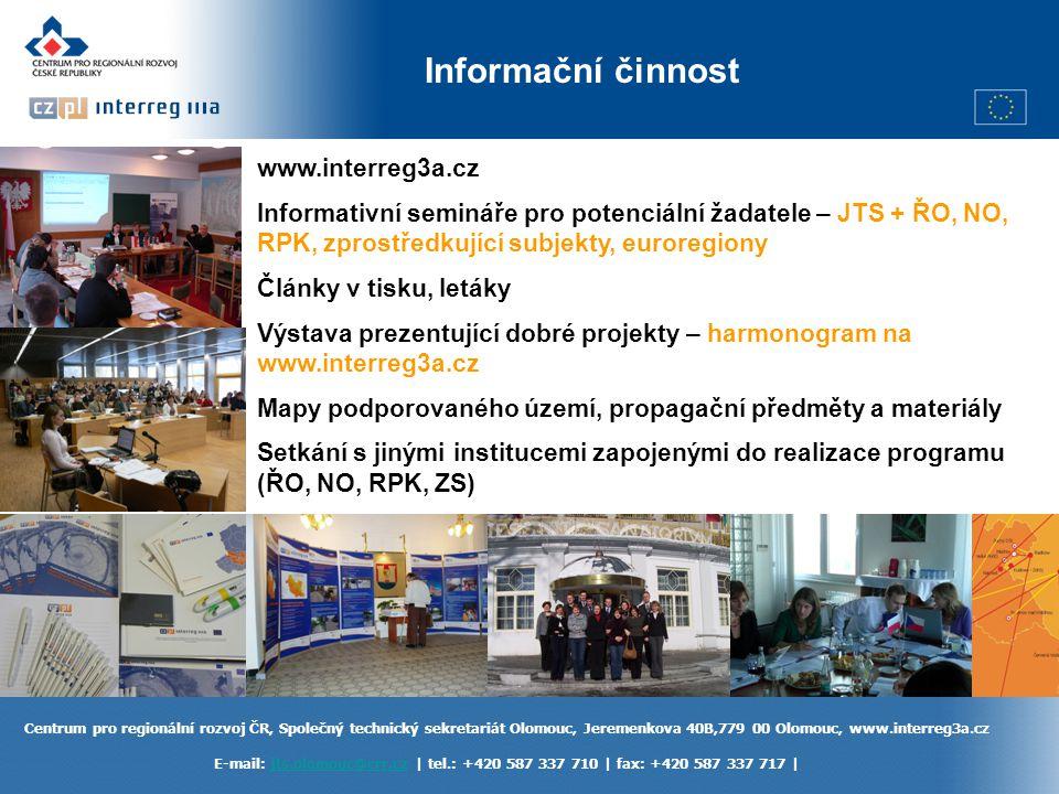 Informační činnost www.interreg3a.cz