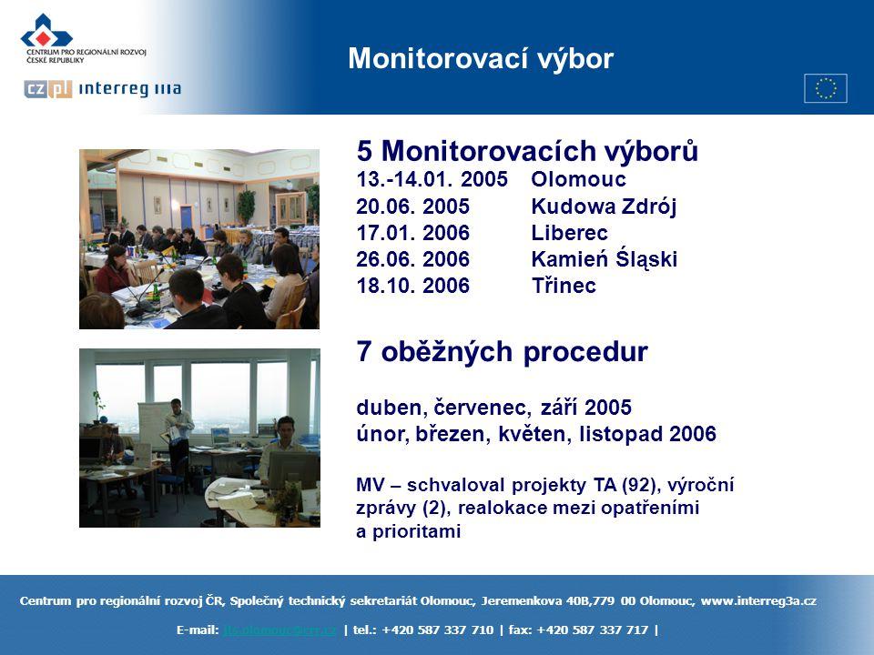 5 Monitorovacích výborů