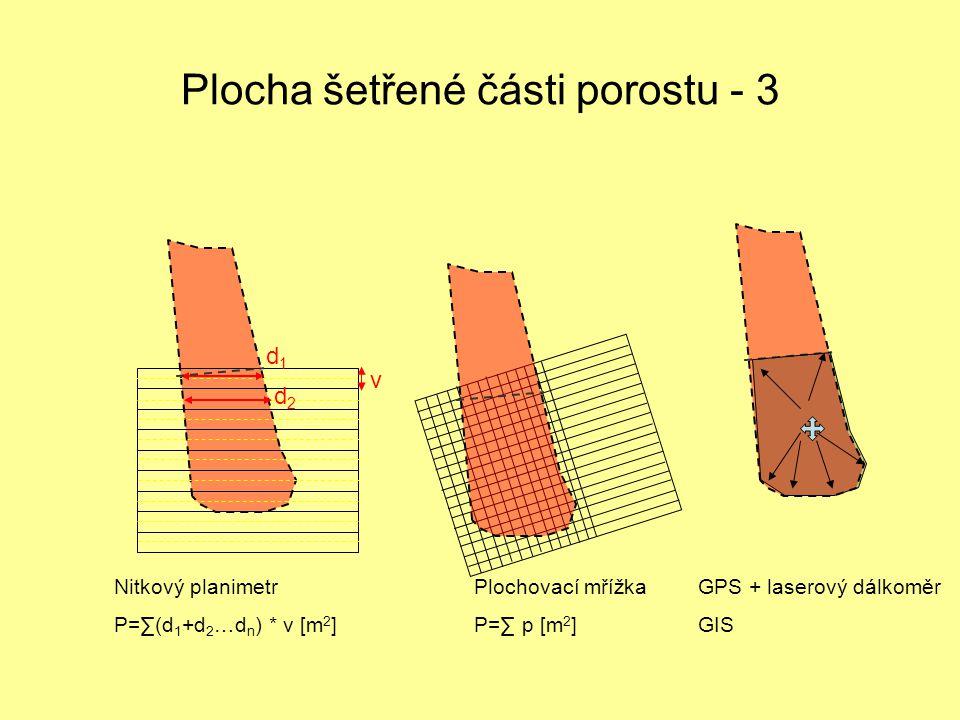 Plocha šetřené části porostu - 3