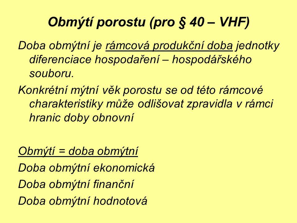 Obmýtí porostu (pro § 40 – VHF)